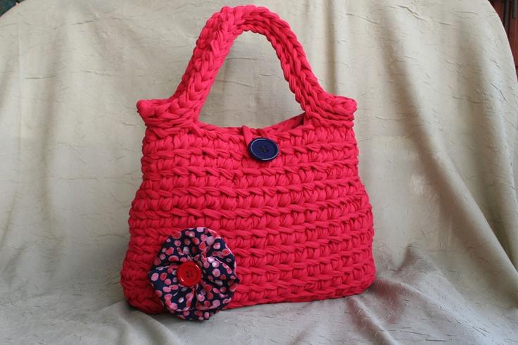 Le borse di Lulù: Borsa in fettuccia rosso corallo