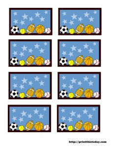 Sports theme labels   # Pin++ for Pinterest #