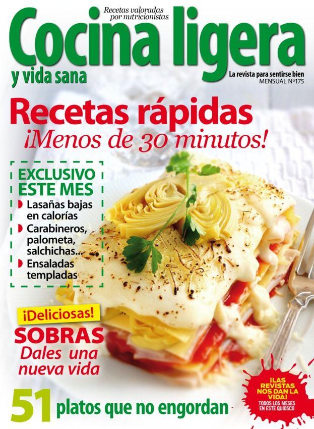 Cocina Ligera - Marzo 2014 : Recetas rápidas ¡Menos de 30 minutos!, Exclusivo este mes: Lasañas bajas en calorías, Carabineros, palometa, salchichas, Ensaladas templadas, 51 platos que no engordan