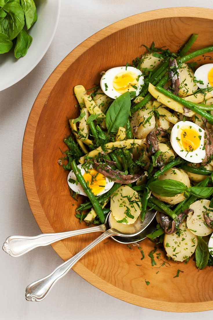 French Potato and Green Bean Salad If this sounds like a pared-down salade niçoise, it is Make a bold vinaigrette that is unapologetically fragrant with garlic and anchovy Boil medium-size potatoes in their skins