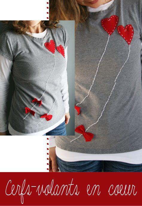 Tchoubi ::: Petites histoires créatives: Customiser un t-shirt : #St-Valentin