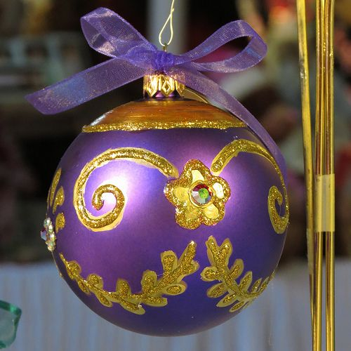 Imperial Purple and Gold Ornament