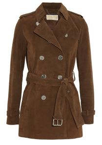 A brown suede Michael Michael Kors coat, perfect for channelling Françoise Hardy. #aw2014 #michaelkors
