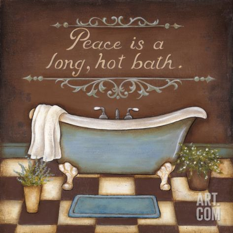 Long Hot Bath Print by Kim Lewis at eu.art.com