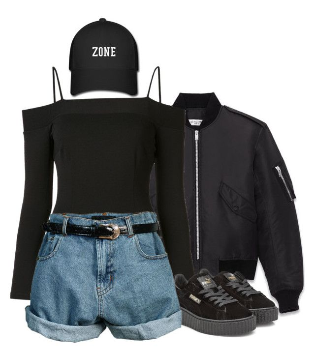 """Sans titre #326"" by ivivsquad ❤ liked on Polyvore featuring Yves Saint Laurent, Fleur du Mal, Puma and Retrò"