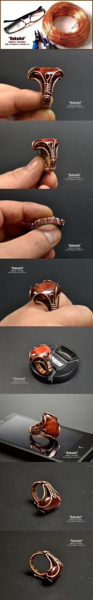 wire wrapped ring by lee