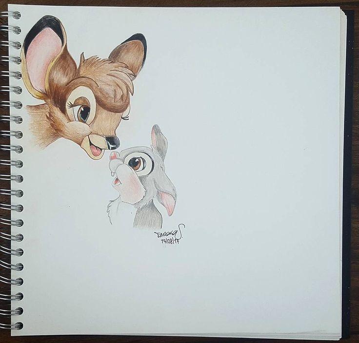 "Gefällt 0 Mal, 1 Kommentare - ᵀ ᴬ ᴹ ᴬ ᴿ ᴬ (@acryltastic) auf Instagram: ""Bambi & Thumper - Inspiration: @lilz_art _____________________________________ #kreativershit…"""