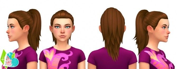 Simple Ponytail at SimLaughLove