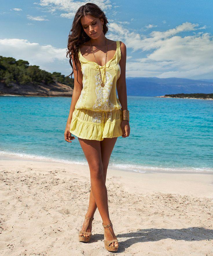 Jaz Yellow Beach Dress Sale