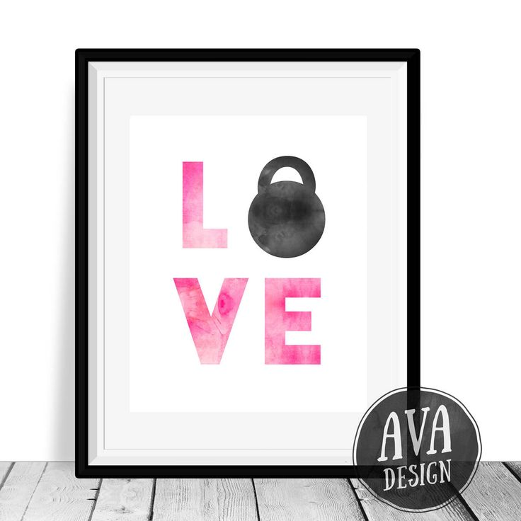 This LOVE print features a black watercolor Kettlebell, for the fitness lover in your life. This will look great in a little girls bedroom or a home gym :)  This listing is for an instant download — You will receive an 8x10 inch JPEG that you can print at home or at your local print shop.  A link to your download will be emailed to you as soon as payment is processed.  Please contact me if you have any questions or would like to request a custom listing :)  PLEASE NOTE: ★ This is an instant…