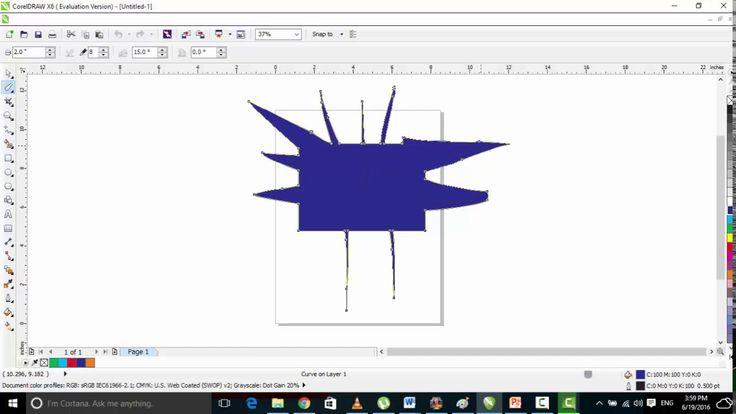 Part 9 Smudge Brush corel draw graphic designing in urdu and hindi video...