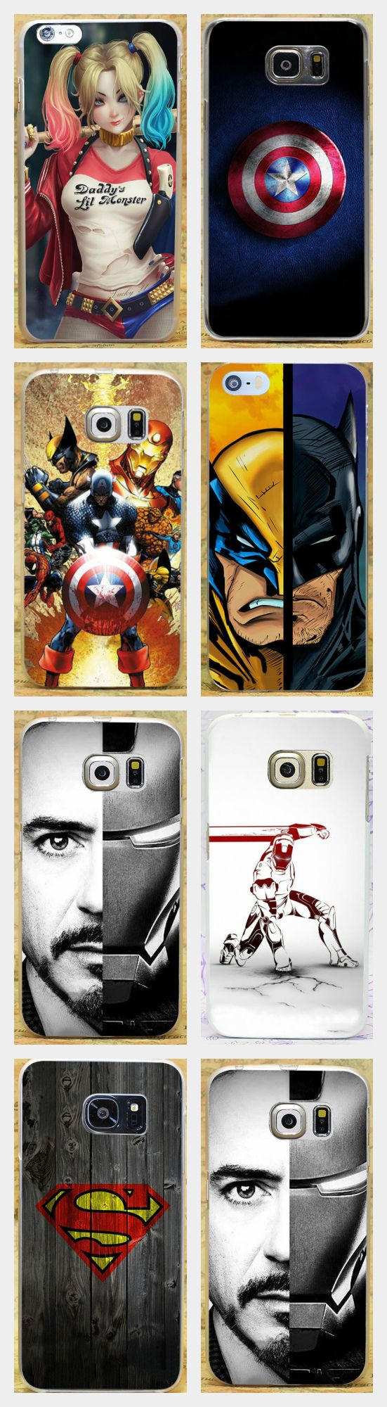 Pics photos batman logo evolution design for samsung galaxy case - Captain America Batman Superman Iron Man Marvel Hero Case Cover For Iphone 4 5 6 7 Plus For Samsung 2015 2016 2017 2015 2016 Mini Edge