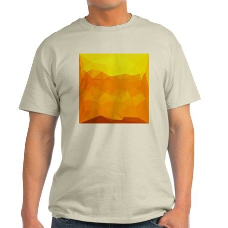 Cyber Yellow Abstract Low Polygon Background T-Shi