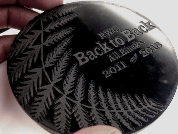 SET4 All Blacks 2015 RWC souvenir coasters new by DreamADesign