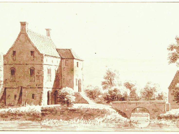 Een tekening van Cornelis Pronk uit 1732 van huize Schuilenburg nabij Hellendoorn. Dinand Webbink