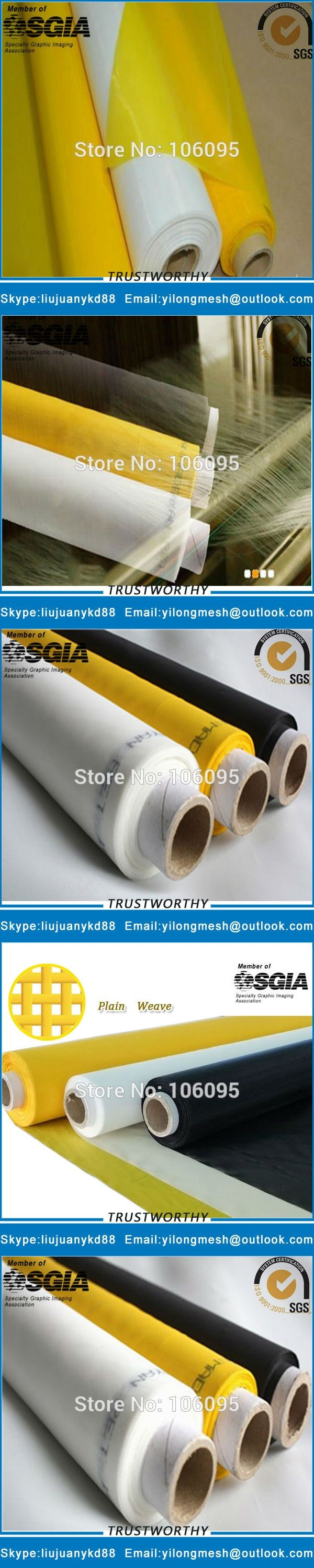 47T(120mesh)-145cm 30meters Silk Screen Printing Material Free Shipping with Fast Delivery!