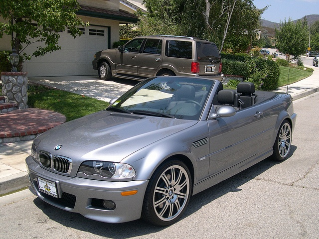 2003 BMW M3 Convertable - 5 speed manual - Silver on Black by nstunts, via Flickr