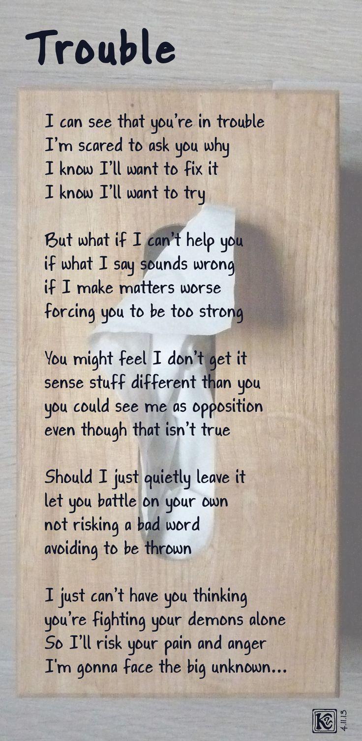 TROUBLE - Poem about friendship