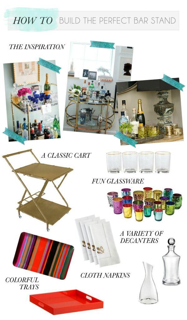 Our Double bar cart via the @Gemma Ocampo-Sioson Guide! #barcart