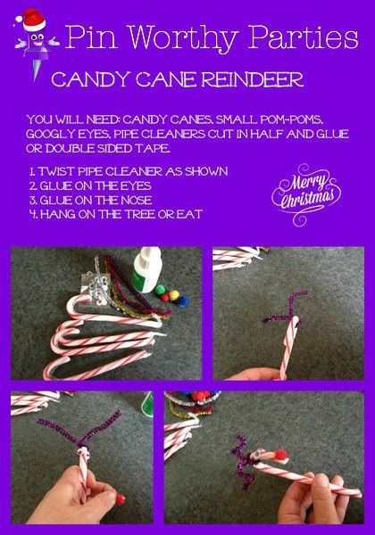 Hi Party Planners. Welcome to 'How to Wednesday'. With Christmas a mere seven weeks, yes SEVEN, weeks away I wanted to share with you the craft I put together for my son's end of year gift for his class mates last year. Candy Cane Reindeer.