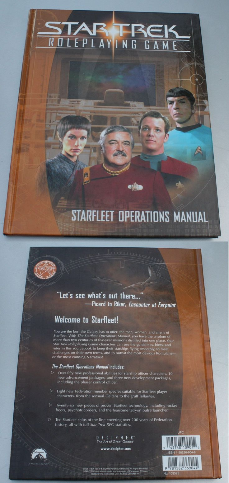 Science Fiction 2547: Star Trek Roleplaying Game Starfleet Operations Manual New Book Rpg Role Playing -> BUY IT NOW ONLY: $53 on eBay!