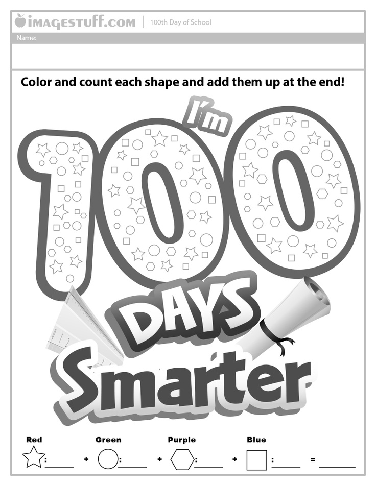 I'm 100 days smarter. 100th day of school