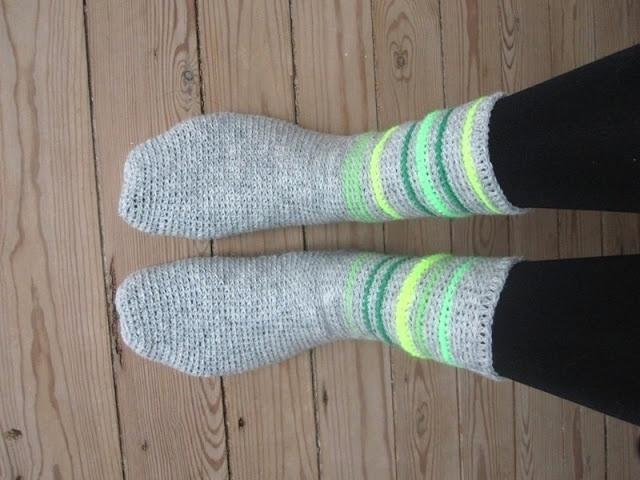 The Funky Fox: DIY - Hæklede sokker