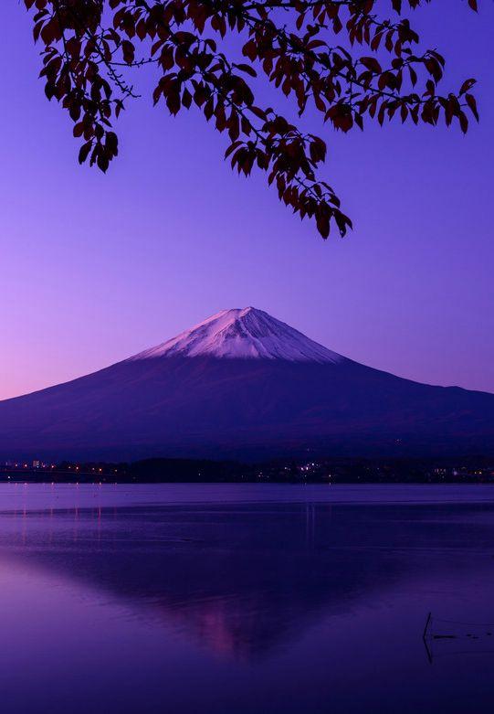 Mount Fuji, Lake Kawaguchi, Yamanashi, Japan