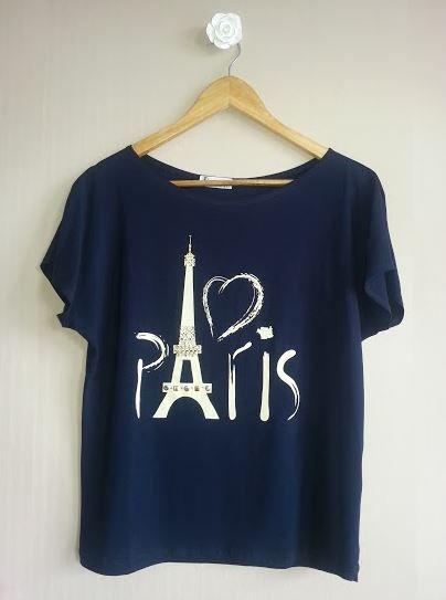 Camiseta Paris www.missbeatriz.com.br