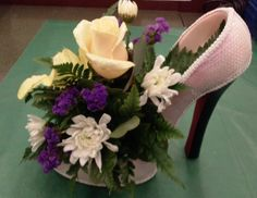 High Heel Flower Centerpiece | high heels floral centerpiece 2 more floral centerpieces heels ideas ...