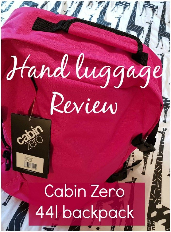 My Cabin Zero bag review for those who want to cram their hand luggage full - the 44 litre backpack can be taken as cabin luggage on most airlines, is lightweight, tough, with lots of pockets and water resistant. #cabinzero #luggagereview #cabinzeroreview #handluggage #cabinbaggage #mummytravels