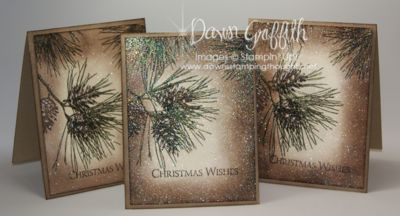 Dawn Griffith designed these beautiful cards using Stampin' Up!'s Ornamental Pine Stamp Set. Just gorgeous!