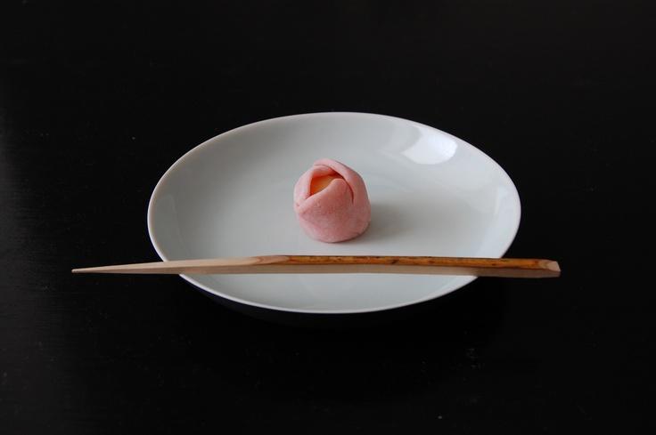 Nerikiri sweet for a practice chakai