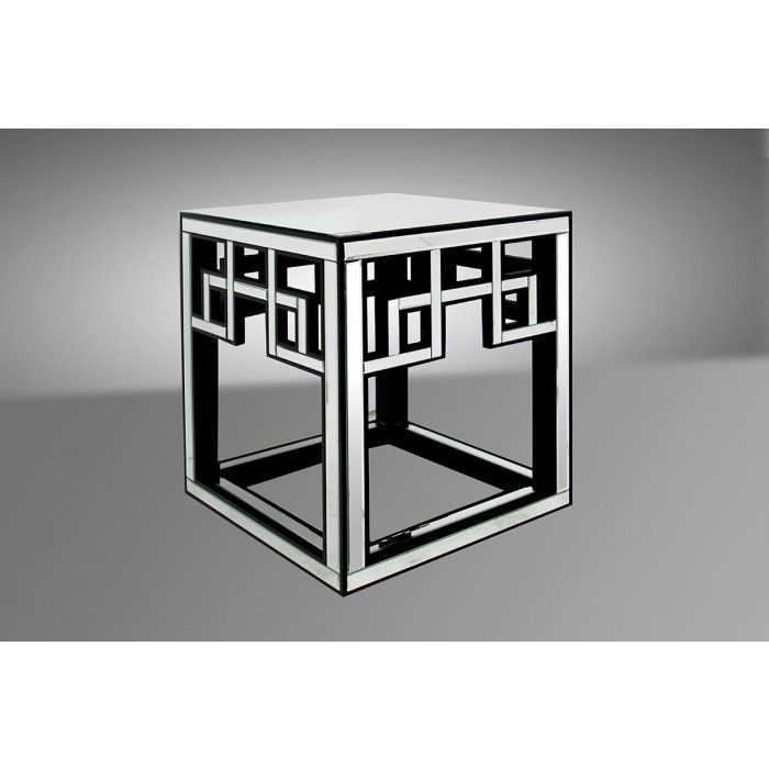 Linley Contemporary Mirrored End Table