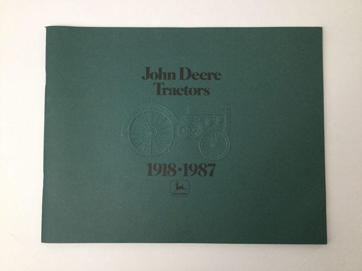 Vintage Original John Deere Tractors Dealers Brochure 1918-1987 Made In USA #JohnDeere