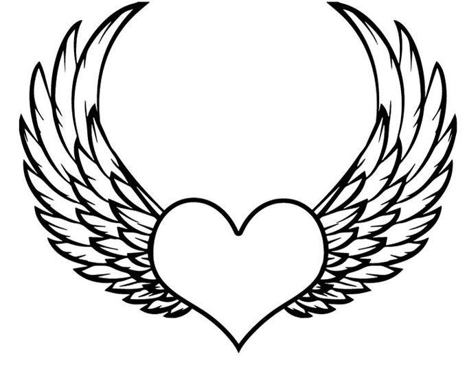 выжила картинки как нарисовать сердце с крыльями красивые прикольные