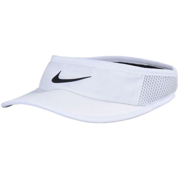 Nike Hat ($23) ❤ liked on Polyvore featuring accessories, hats, white, sun visor hat, nike sun visor, visor hats, nike hat and stretch hat
