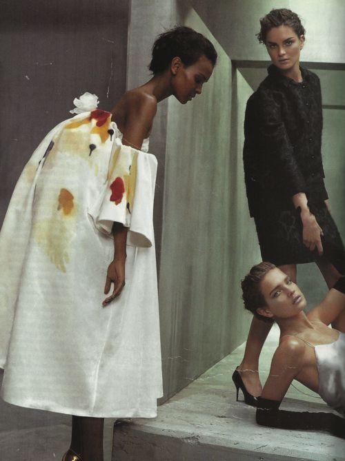 Vogue US July 2003 'Beautiful Dreamers' - Liya Kebede, Anouck Lepere  Natalia Vodianova by Steven Klein