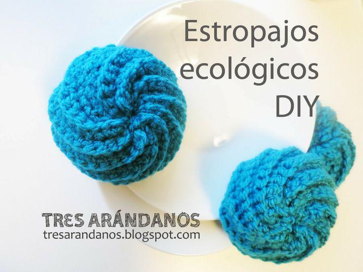 estropajos de ganchillo diy eco :) Tres Arandanos