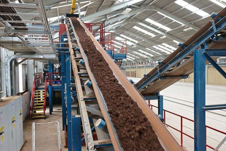 prepared clay entering the factory