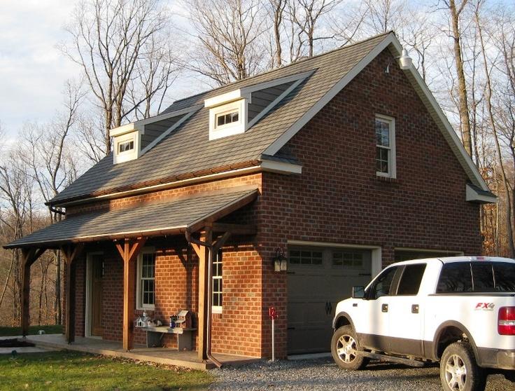Post and beam porch on garage garage plans pinterest for Post beam garage plans