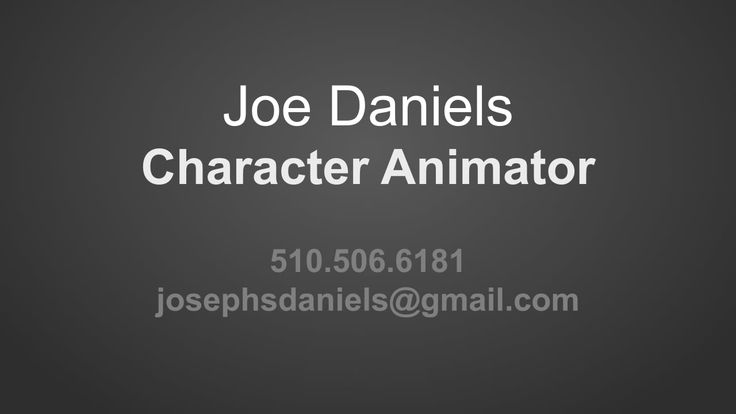 Joe Daniels - Reel - Feb 2015