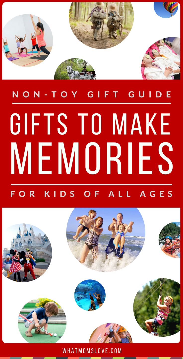 Best Non-Toy Gifts for Kids | Want to give a meaningful gift that will be remembered for years to come? Learn over 200 incredible gift ideas for kids that AREN'T toys in this awesome Non-Toy Gift Guide. Perfect for toddlers to tweens and teens, girls or boys, for Holidays, birthdays and special occasions. Click to view or Pin for later | from What Moms Love