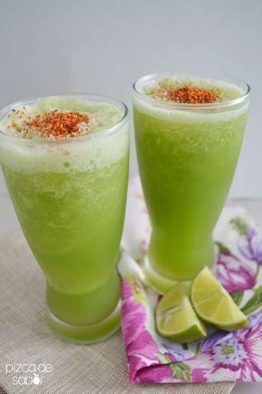 Frappe de pepino con limón y chile www.pizcadesabor.com