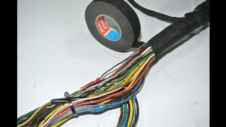 Diy Wiring Harness Clean Up And Restoration Truck Accessories Diy Motorcycle Wiring Diy Motorcycle