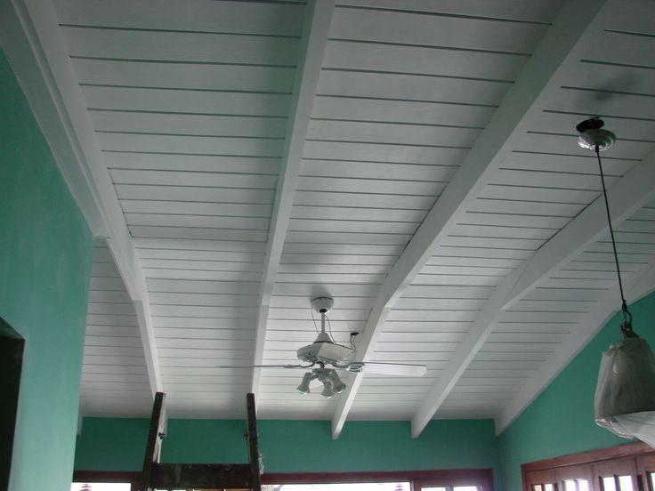 Pintar techo de madera de blanco buscar con google aberturas pisos paredes techos - Como pintar paredes y techos ...