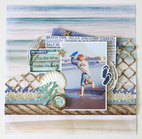Kaisercraft Coastal Escape Layout by Alicia McNamara