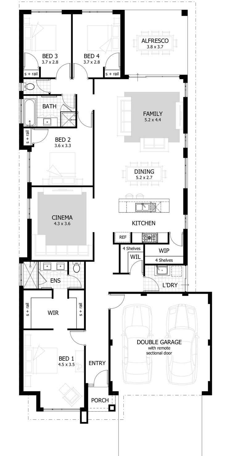 Bedroom Floor Plan Design Decoration 4 Bedroom House Plans Home