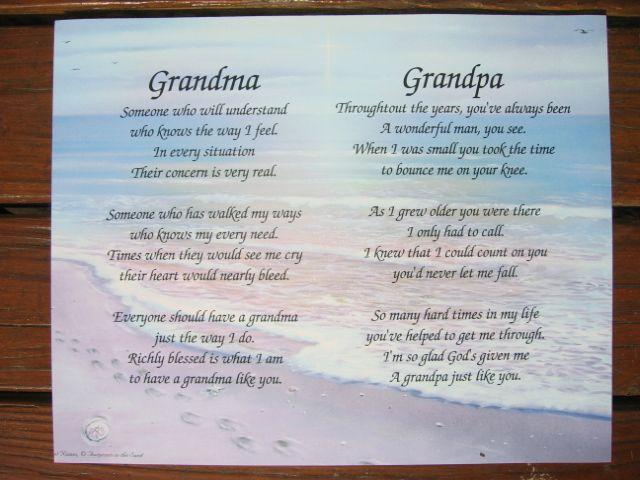 Grandma Grandpa Nana Poppop I Love U