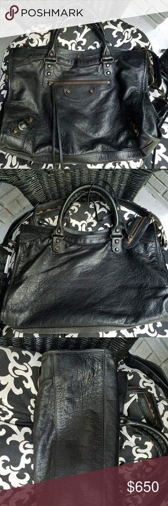 Balenciaga Bag Excellent condition. I got out some lipstick out of a spot on the interior so its gray which i think can be fixed by putting a little rit black dye on it. I would trade for an LV shoulder bag ,bookbag, alama with strap Balenciaga Bags Satchels